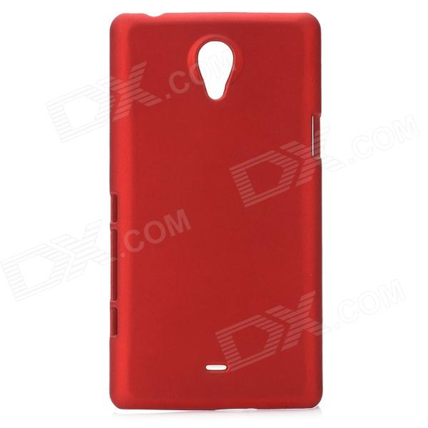 Protective Plastic Hard Back Case for Sony LT30i Xperia T - Deep Red