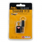JUST LOCK TSA21011 Zinc Alloy TSA-Accepted Travel Padlock - Black