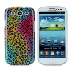 Peafowl Pattern Protective Plastic Hard Back Case for Samsung Galaxy S3 i9300 - Multicolored