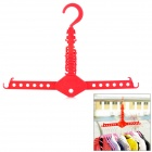 Multi-Function Magic Foldable ABS Clothes Hanger Rack - Red