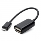 USB 2.0 to Micro USB Data Sync / Charging Cable w/ OTG Adapter Cable for Samsung S3 / N7100 - Black