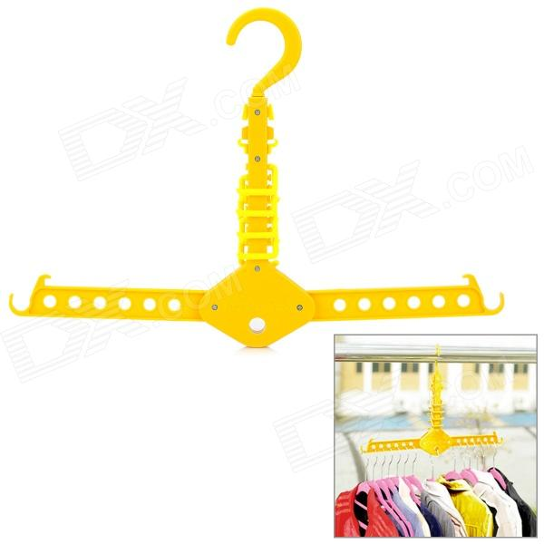 Multi-Function Magic Foldable ABS Clothes Hanger Rack - Yellow