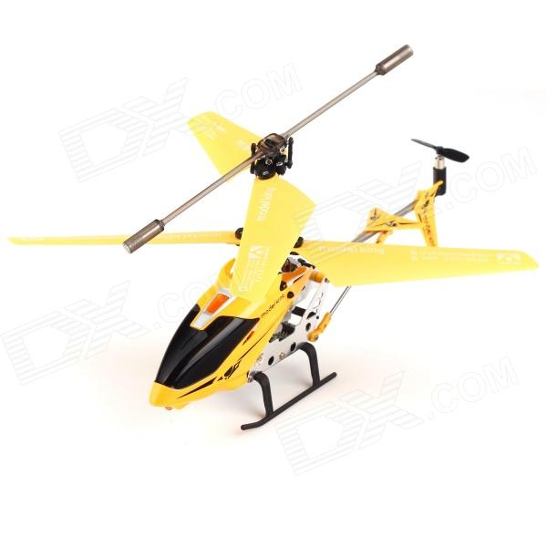 USB Rechargeable 3.5-CH IR Remote Control Mini R/C Helicopter Set - Yellow