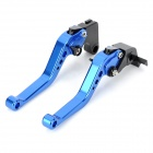 HX BCL036 Replacement Motorcycle Clutch Brake Levers for Yamaha YZF R6 - Blue + Black (2 PCS)