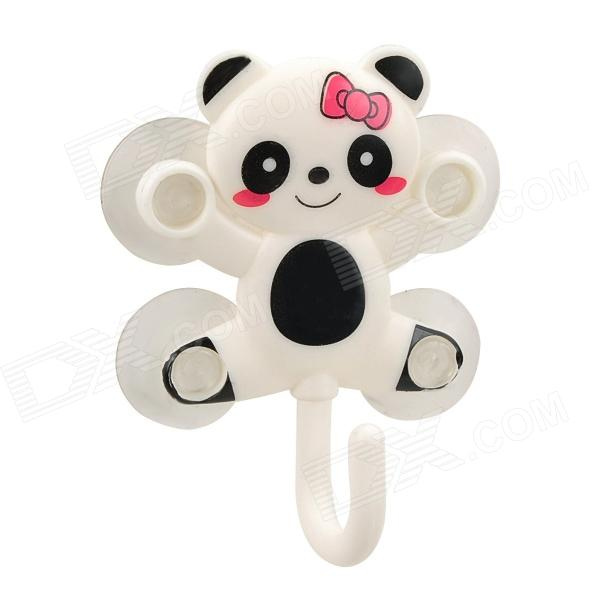 Lovely Cartoon Panda Style Hanger w/ 4-Suction Cup - White + Black от DX.com INT