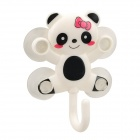 Lovely Cartoon Panda Style Hanger w/ 4-Suction Cup - White + Black