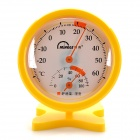 Mingle TH108B Plastic Analog Household Thermometer / Hygrometer w/ Stand - Yellow