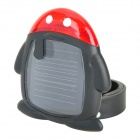 XL808 Penguin Style Solar Powered 2-LED 3-Mode Bicycle Tail Lamp - Black + Red