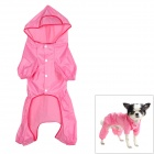 Waterproof Polyester + Nylon Pet Raincoat for Dog - Pink