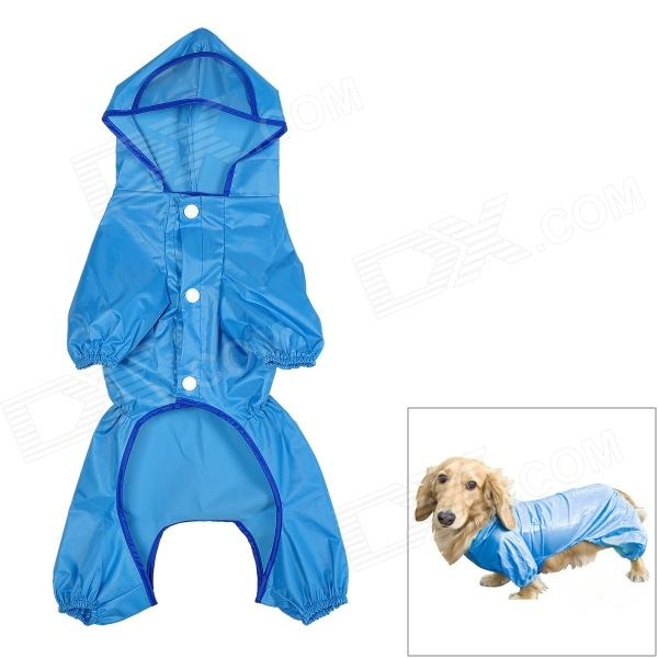 Waterproof Polyester + Nylon Pet Raincoat for Dog - Blue