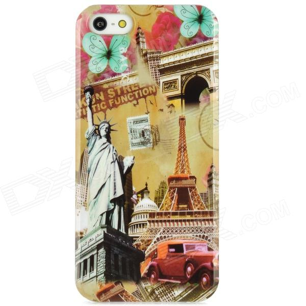 все цены на The Statue of Liberty + Eiffel Tower Protective Plastic Back Case for Iphone 5 - Multicolored онлайн