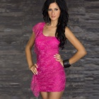 Sophisticated Sexy Curve Lace Meryl Cocktail Dress - Deep Pink