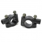"Universal de alta calidad Motocicleta 7/8 ""Mango Bar Mirror Mount Holder Clamp Adaptor - Negro (Pareja)"