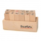 DIY Life Diary Wooden Stamps Set (12 PCS)