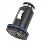 002 Universal Car Cigarette Lighter Plug Charger for Ipad / Iphone + More - Black (DC 12~24V)