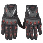 SCOYCO MC10 Full-Fingers Motorcycle Racing Gloves - Black + Red (Size M)