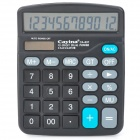 "Cayina CA-837 1.2"" LCD Electric 12-Digit Calculator - Black"