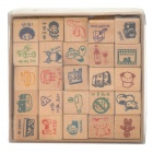 DIY Fashion Exquisite Wooden Stamps Set (25 PCS)