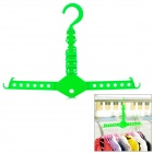 Multi-Function Magic Foldable ABS Clothes Hanger Rack - Green