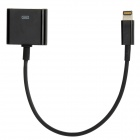Lightning 8-Pin Male to 30-Pin Female Adapter Data Sync Charging Cable for iPhone 5 - Black (19cm)