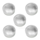 23.0mm Optics/Light Diffusers - White + Transparent (PMMA / 5 PCS)