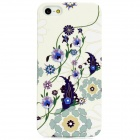 Flower Pattern Protective Plastic Back Case for iPhone 5 - Multicolored