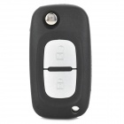 AML030297 Foldable Replacement 2-Button Remote Key Cover Shell Case for Renault - Black + Silver