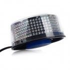 28W 2016lm 288-LED Super Bright Red + Blue Strobe Light Car Party Hat - Black + Silver (12V)