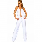 8251-1 Elegant Sexy Overall Yoga Dress - White