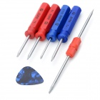 Universal Professional Disassembly Open Tools for Cellphone - Blue + Red (6 PCS)