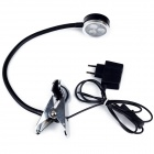3W 285lm 3200K 3-LED Warm White Light Clip Desktop Lamp - Black (AC 85~265V)