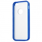 Frosted Protective TPU + PC zurück Fall für iPhone 5 - Deep Blue + Translucent