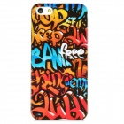 Graffiti Pattern Protective Plastic Back Case for Iphone 5 - Multicolored
