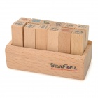 DIY Week / Weather Wooden Stamps Set (12 PCS)
