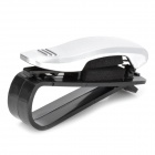SD-1302 Universal Car Sunglasses Glasses Clip - Silver + Black