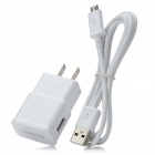 Genuine Samsung ETA-U90JWE AC Power Charger w/ USB Cable for Galaxy Note 2 N7100 - White