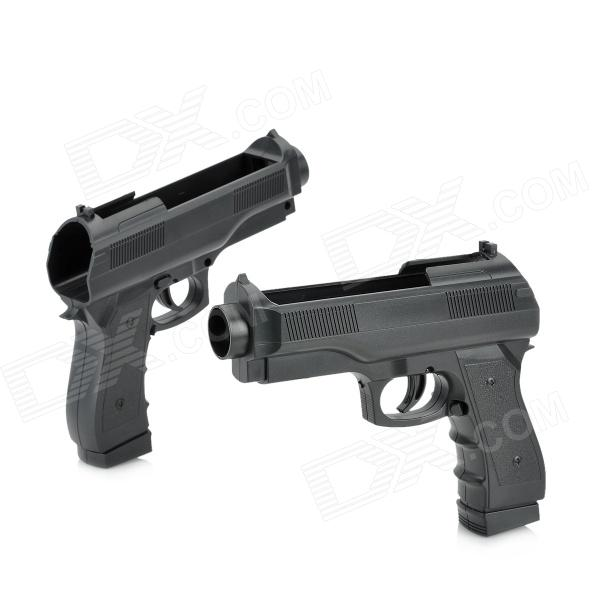 ChuangNian Wisemi-Auto Shooting Game Pistol Gun Controller for Wii U Remote - Black (2 PCS)