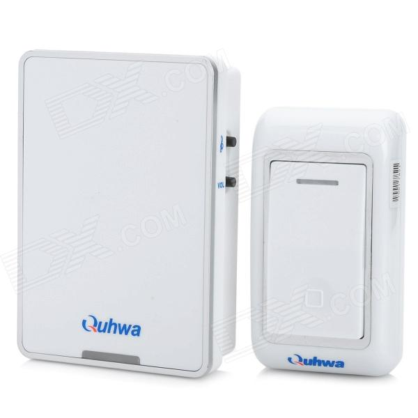 Фото Quhwa 841Q Wireless Doorbell Transmitter + Receiver Set - White ultra loud bicycle air horn truck siren sound 120db