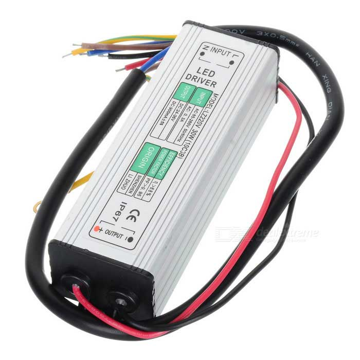 Water Resistance 24~36W External LED Power Supply Driver - Silver (90~265V)
