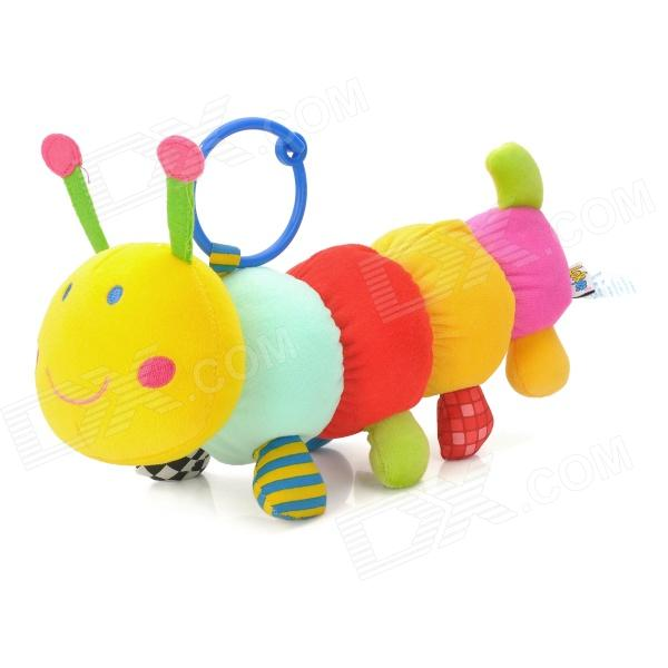 Musical Belling Caterpillars Style Plush Bed Hanging Stuffed Toy / Doll w/ Ring - Multicolored baby stroller high landscape can sit and lie trolley high quality folding baby cart children s pram