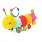 Musical Belling Caterpillars Style Plush Bed Hanging Stuffed Toy / Doll w/ Ring - Multicolored