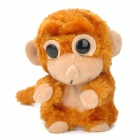 Cute Talking Nodding Monkey Style Electronic Plush Toy - Brown + Fleshcolor