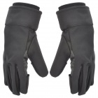 Professional Outdoor Waterproof Anti-slip Warm Gloves for Nikon / Canon DSLR - Black (Pair)