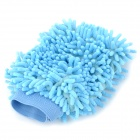 Double-Side Fiber Car Cleaning Glove - Light Blue