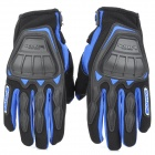 SCOYCO MC08 Full-Fingers Motorcycle Racing Gloves - Black + Blue (Size M)