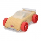 C9R Manual Burnishing Mini Sports Car Block Toy - Red + Wood + White