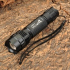 UltraFire 503B Cree XM-L T6 860lm 5-Mode White Zooming Flashlight - Black (1 x 18650)