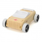A9S Manual Burnishing Mini Sports Car Block Toy - Wood + White
