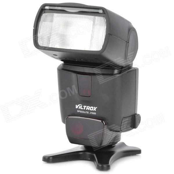 VILTROX JY620 1.8 LCD Flash Speedlite Speedlight for DSLR Nikon / Canon + More - Black (4 x AA) viltrox jy 680a universal camera lcd flash speedlite for canon nikon pentax olympus dslr free 20 color gels filter