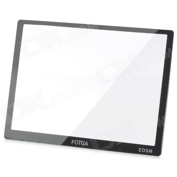 FOTGA Optical Glass LCD Screen Protector w/ Cleaning cloth for EOS M - Black + Transparent сандали cristhalia сандали